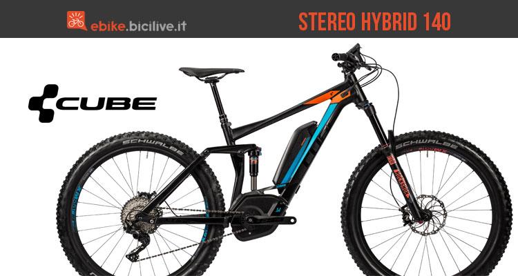 La mountain bike elettrica Cube Stereo Hybrid 140 HPA 500 27.5+