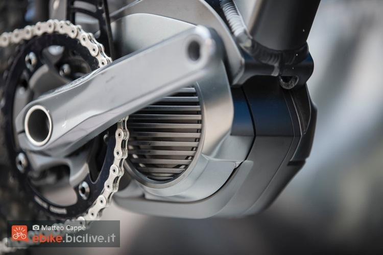 Le alette di raffreddamento del nuovo motore Shimano Steps Mtb per emtb.