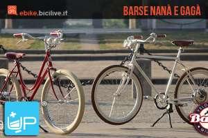 Le biciclette a pedalata assistita di Barse chiamate La Nanà e Il Gagà