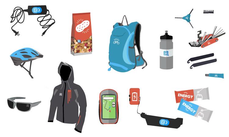 Una lista di accessori e l'equipaggiamento ideale per un viaggio in bicicletta elettrica