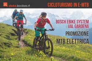Cicloturismo con le e-mtb e mountain bike elettriche in Val Gardena e nelle Dolomiti