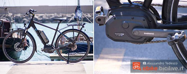 La bicicletta a pedalata assistita Brinke Rushmore 16 alimentata dal sistema Shimano Steps