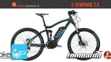 La mountain bike full suspended elettrica Lombardo E-Sempione 2.0