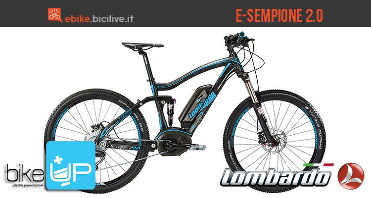 La mountain bike full suspended elettrica Lombardo E-Sempione 2.0