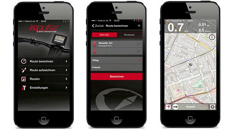 Impulse-E-Bike Navigation app per i sistemi motore Impulse Evo