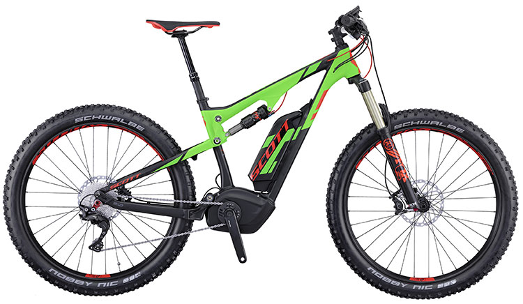 Una mountain bike elettrica Scott E-Genius 710 Plus