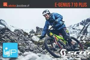 La Scott E-Genius 710 Plus è una eMTB biammortizzata con motore Bosch