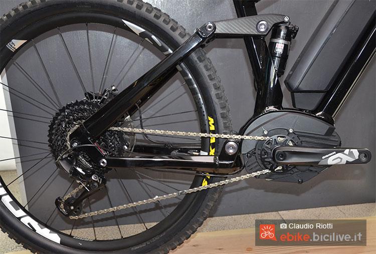 Il gruppo trasmissione SRAM EX1 montato su una mountain bike elettrica