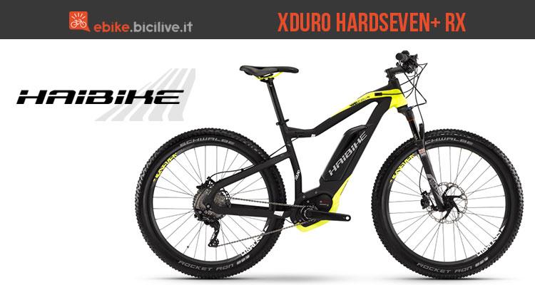 La mountain bike elettrica Haibike Xduro Hardseven+ RX
