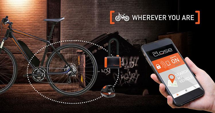 Lucchetti MyClose per biciclette elettriche: smart e geolocalizzati