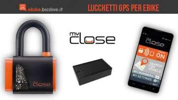 Lucchetti GPS MyClose per biciclette elettriche