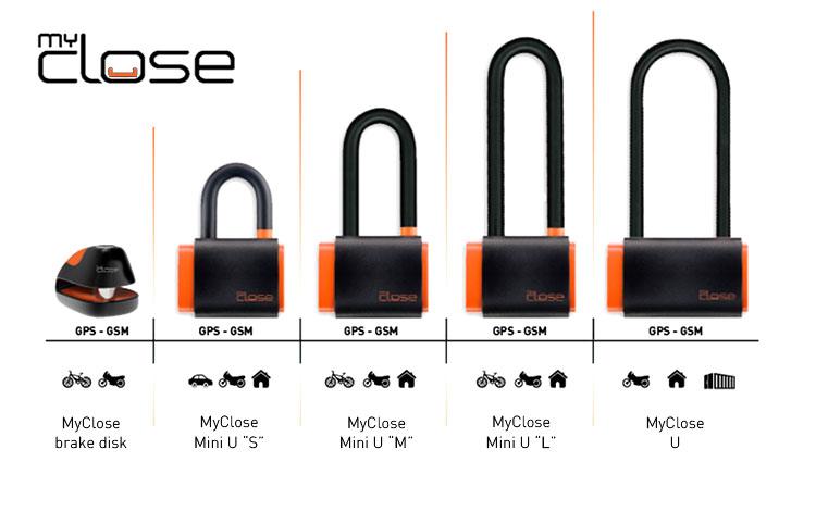 Tutti e 5 i modelli dei lucchetti MyClose