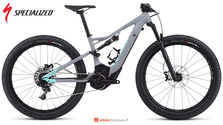 La bici elettrica Turbo Levo FSR Short Travel 6Fattie Specialized per cicliste