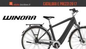 Il catalogo e il listino prezzi 2017 delle ebike Winora