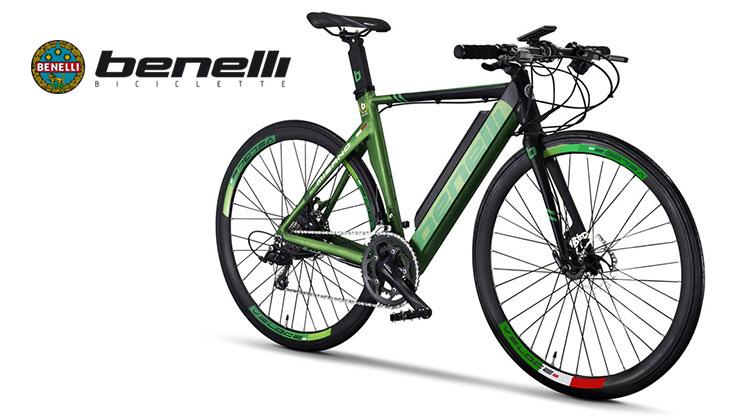 La bici da corsa elettrica a pedalata assistita E-Misano di Benelli