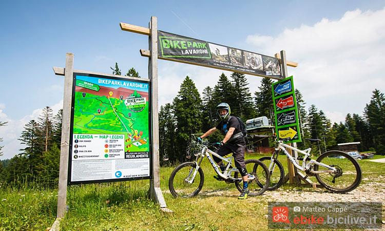 La partenza di tre dei quattro tracciati del Bike Park Lavarone