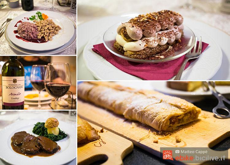 foto dei piatti tipici del folgaria post hotel