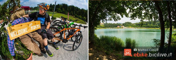 le bici e i sentieri lungo il lago di Lavarone