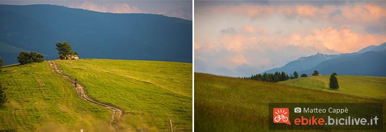 foto dei paesaggi dell'Alpe cimbra bike, il Pra del Finonchio