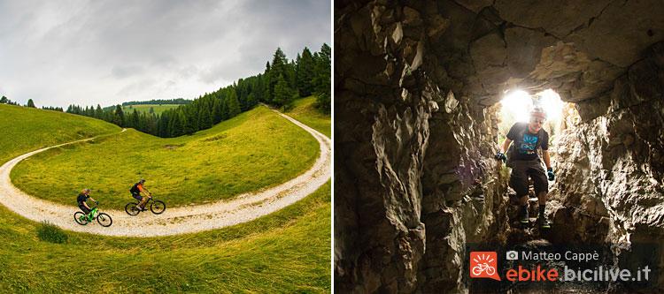 foto dei prati e le grotte dell'alpe cimbra