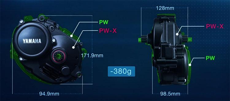 Le dimensioni del motore per ebike Yamaha PW-X 2017