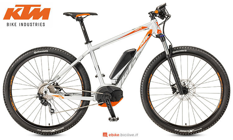 Una mountain bike elettrica KTM Macina Force 292 del 2017