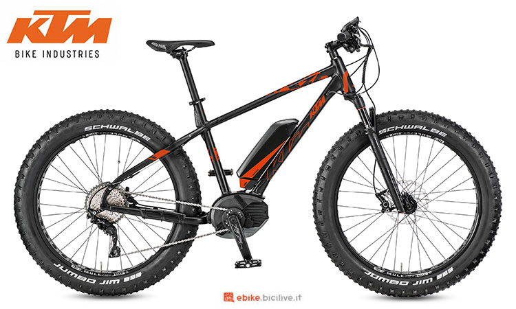 Una mtb elettrica fat Macina Freeze 261 del 2017
