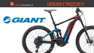Catalogo e listino prezzi 2017 bici elettriche a pedalata assistita Giant