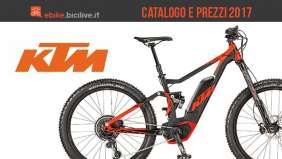 eMTB e bici elettriche KTM: catalogo e listino prezzi 2017