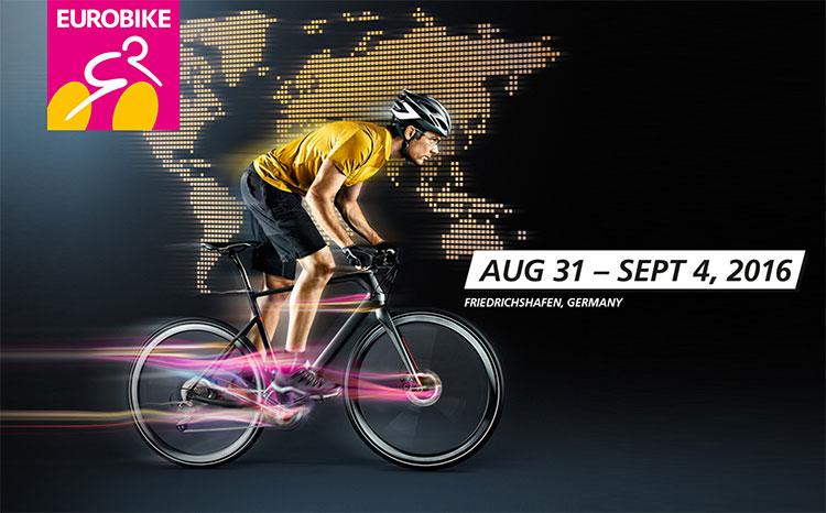 La locandina della fiera delle bici tedesca Eurobike 2016