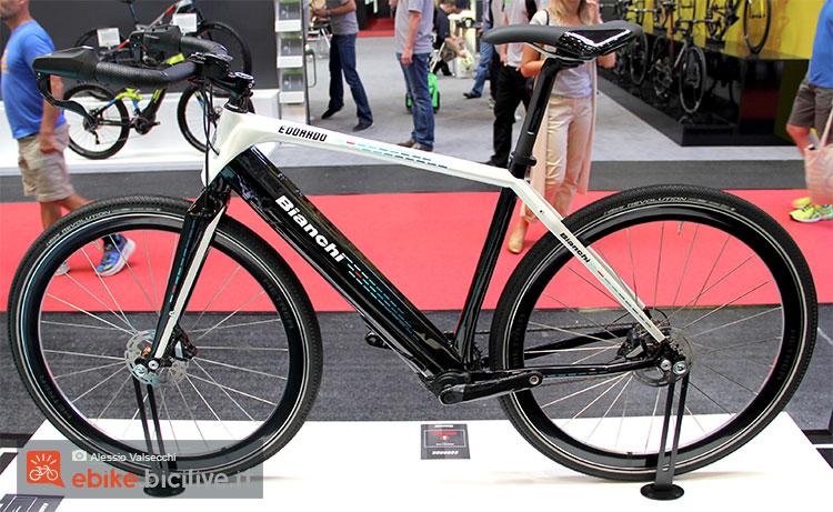 Il prototipo di bici elettrica Bianchi Edoardo 2017 vista a Eurobike 2016