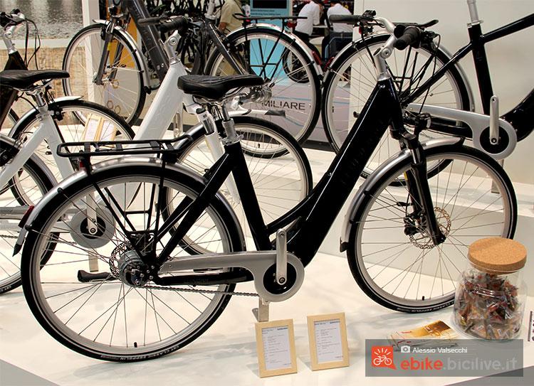 La bici elettrica Winora Manto M8 Disc 2017 vista a Eurobike 2016