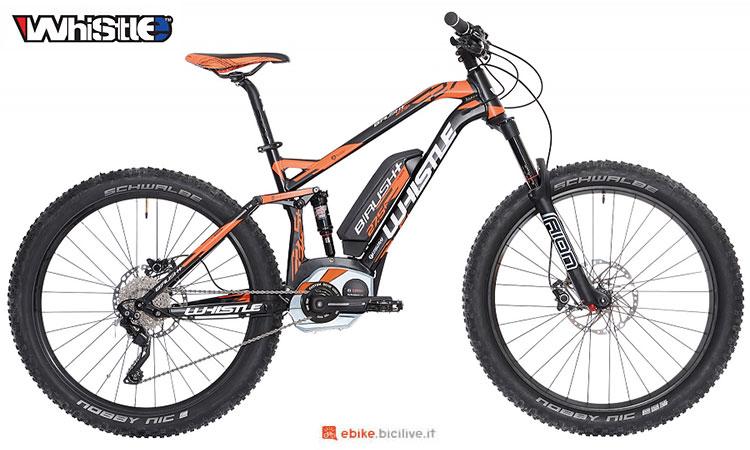 Una mountain bike elettrica Whistle B-Rush Plus 2017
