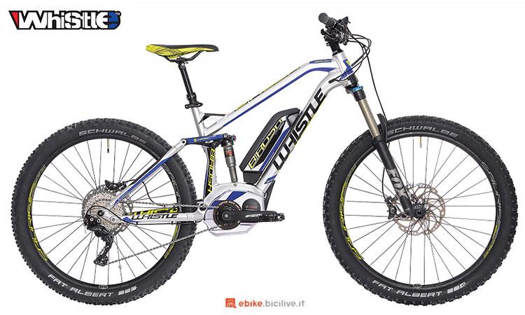 Una mountain bike elettrica full suspended Whistle B-Rush SL