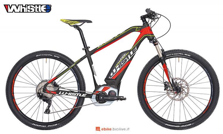 Una mountain bike elettrica hardtail Whistle B-Ware HF S 2017