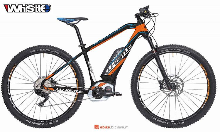Una mountain bike elettrica front Whistle B-Ware HF SL 2017