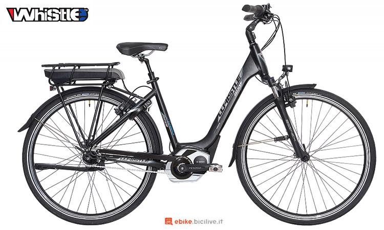 Una bici elettrica da passeggio in città Whistle B-You 2017