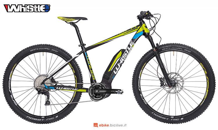 Una mountain bike elettrica hardtail Whistle Yonder SL 2017
