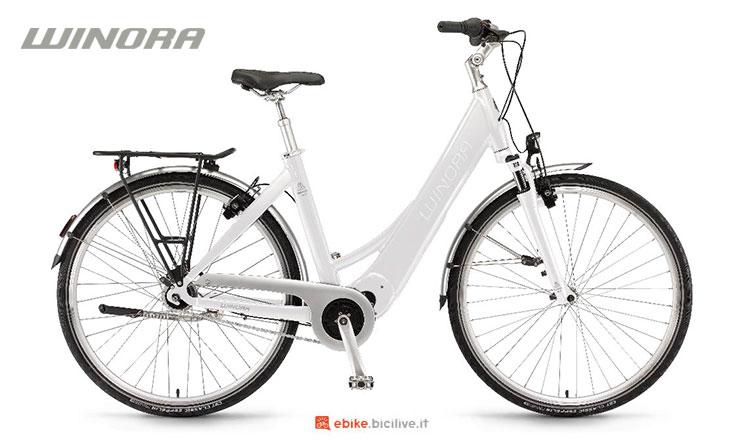 Una bici elettrica Winora Manto M7 2017