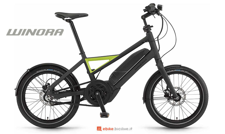 Una bici elettrica Winora Radius Urban 2017