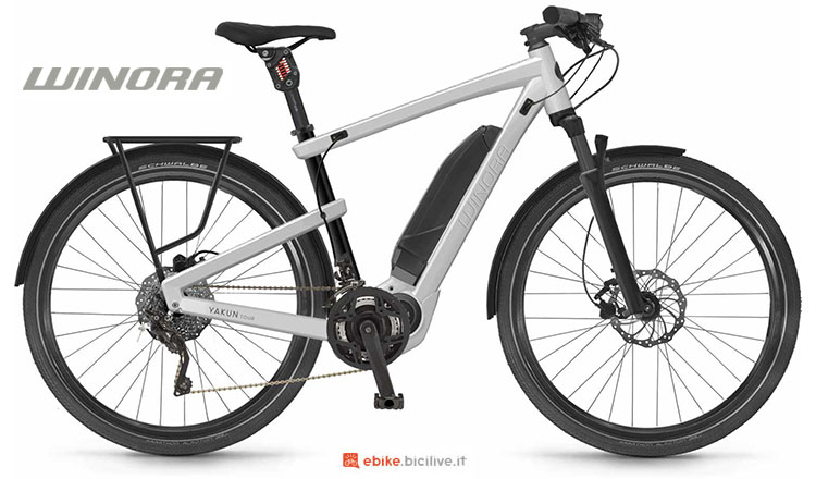 Una bici elettrica Winora Yakun Tour 2017