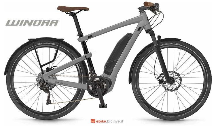 Una bici elettrica Winora Yakun Urban 2017