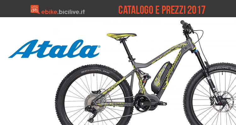 Bici elettriche a pedalata assistita Atala: catalogo e listino prezzi 2017