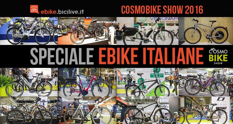 ebike e bici elettriche italiane presenti a cosmobike 2016