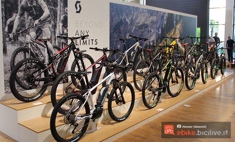 Numerose ebike Scott 2017 esposte a Eurobike 2016