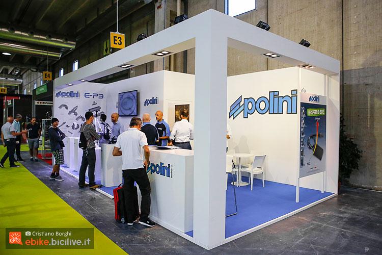 stand polini cosmobike per presentazione motore e-p3