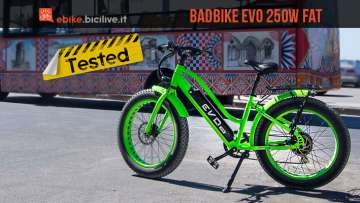 ebike badbike evo 250w fat testata da bicilive.it