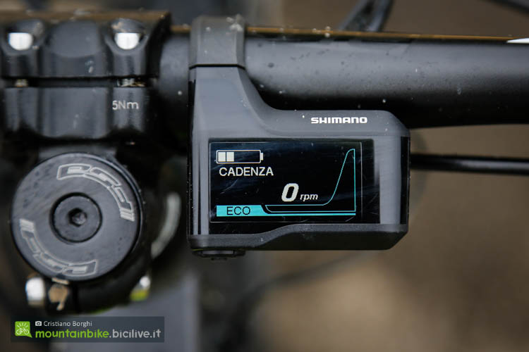 foto del display della Atala Shocker Shimano E8000
