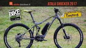 foto della e-mtb Atala Shocker con motore elettrico Shimano Steps E8000
