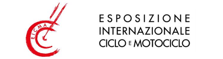 Il logo e la descrizione dell'edizione 2016 della fiera EICMA a Milano